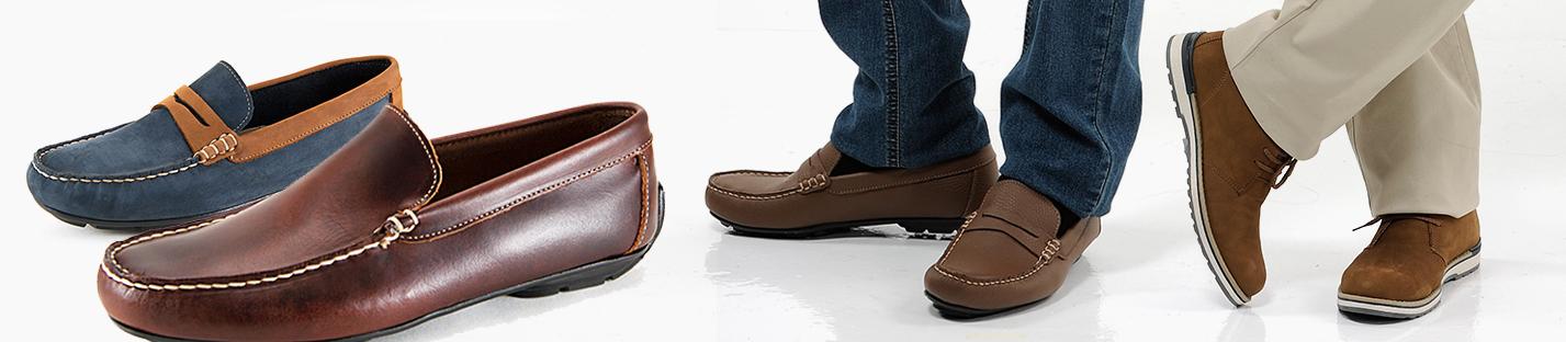 Hombre calzados piel mocasines